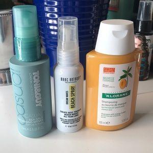 Shampoo, dream waves spray and seasalt texturizing